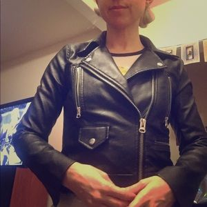 Black Leather Jacket (faux leather) women's